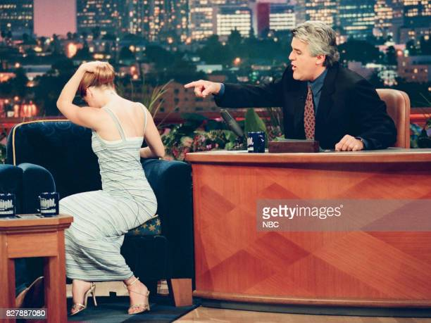 Actress Melissa Joan Hart during an interview with host Jay Leno on April 28 1999