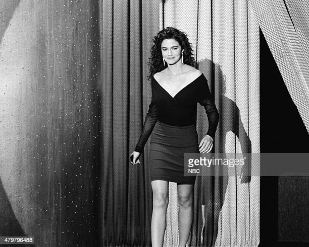 Actress Nancy Valen arrives on October 16 1990