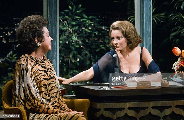 Actress Rosalind Russell guest host Barbara Walters on April 15 1974