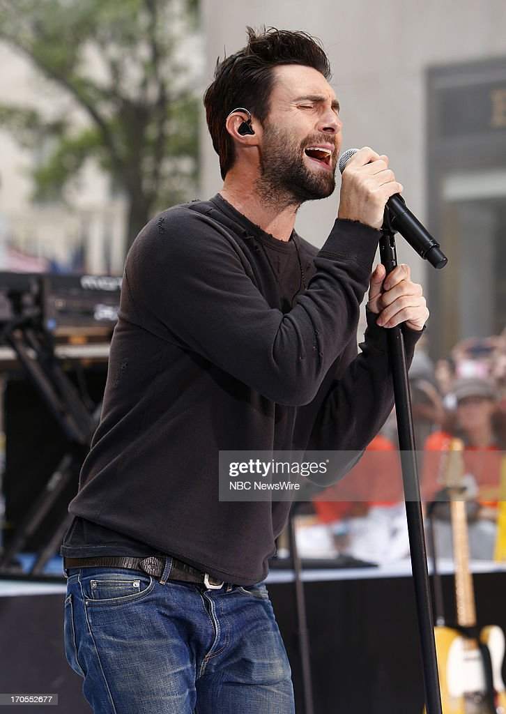 Adam Levine of Maroon 5 appears on NBC News' 'Today' show --