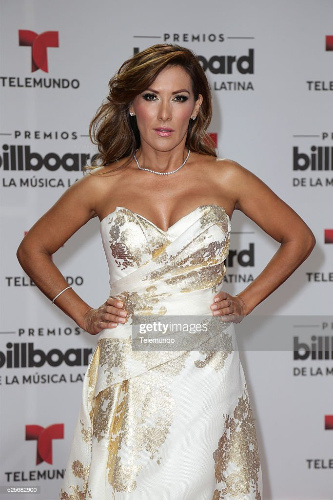 Agucena Cierco arrives at the 2016 Billboard Latin Music Awards at the BankUnited Center in Miami, Florida on April 28, 2016 --