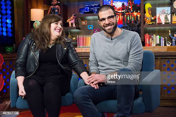 Aidy Bryant and Zachary Quinto