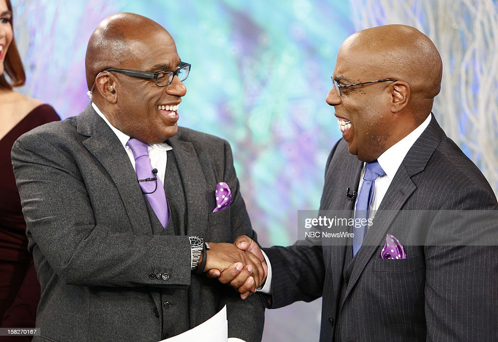 Al Roker and a look-alike appear on NBC News' 'Today' show --