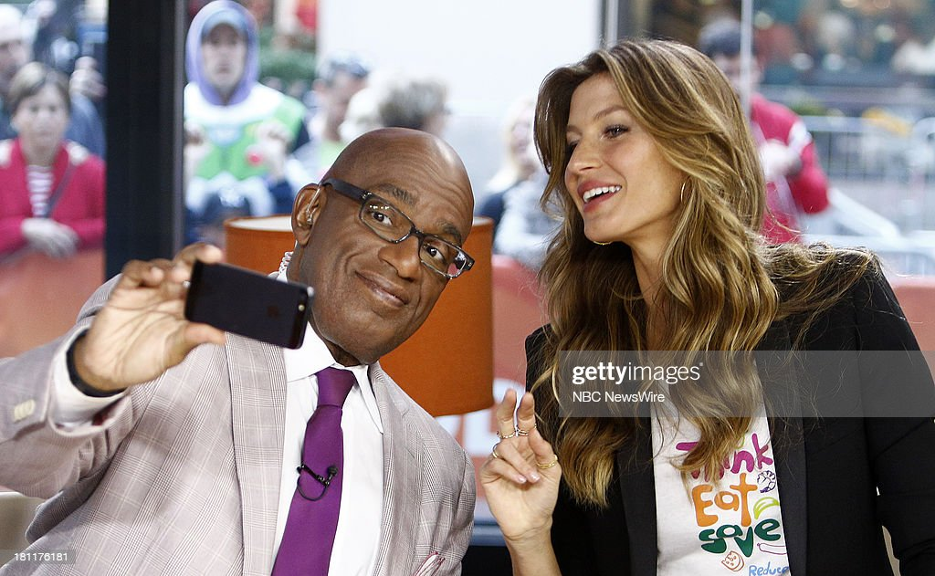 Al Roker and Gisele Bundchen appear on NBC News' 'Today' show --
