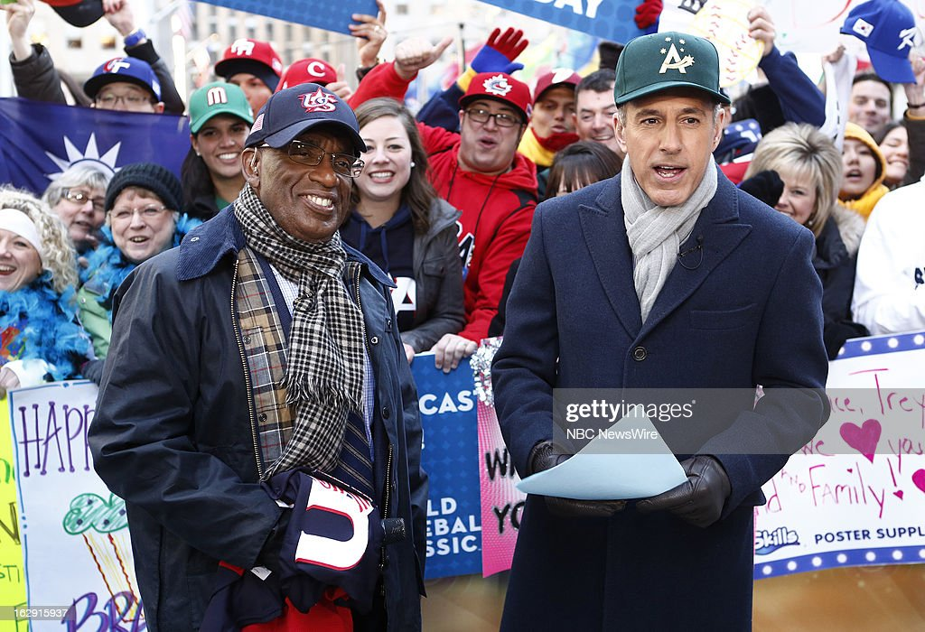 Al Roker and Matt Lauer appear on NBC News' 'Today' show --