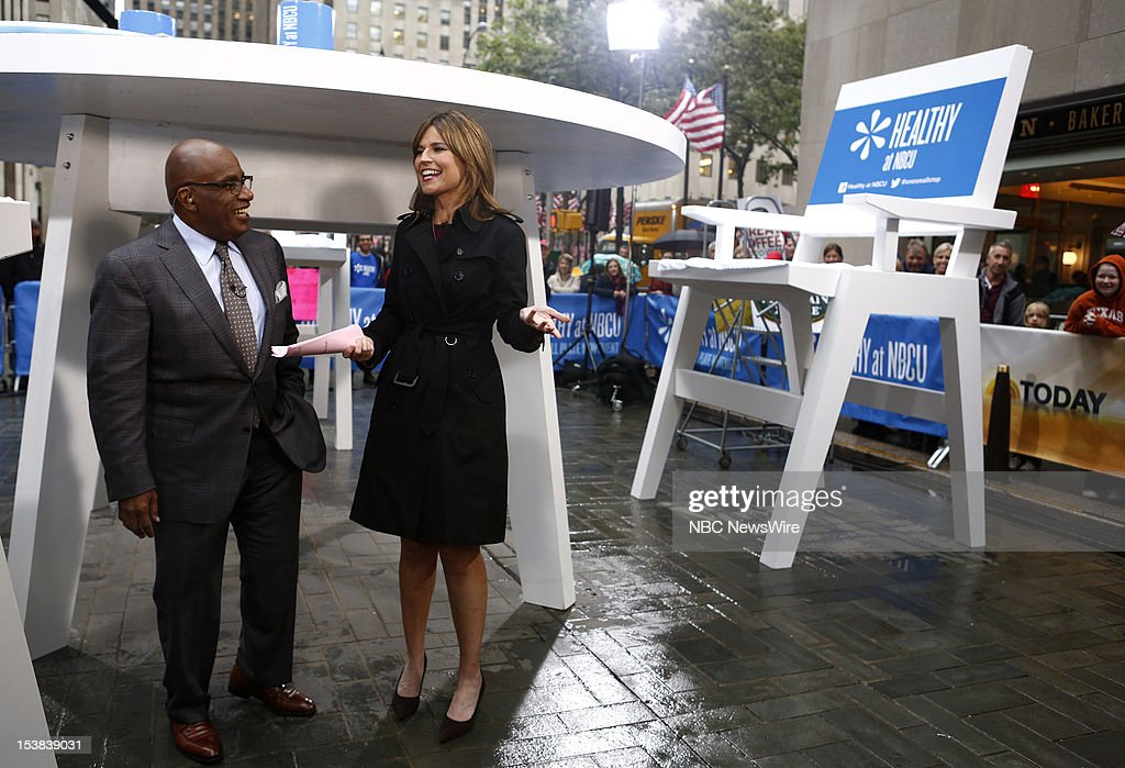 Al Roker and Savannah Guthrie appear on NBC News' 'Today' show --