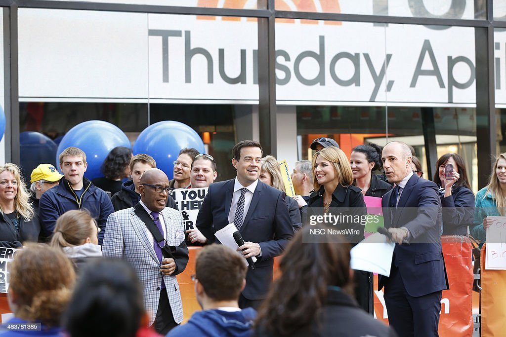 Al Roker, Carson Daly, Savannah Guthrie, Matt Lauer appear on NBC News' 'Today' show --