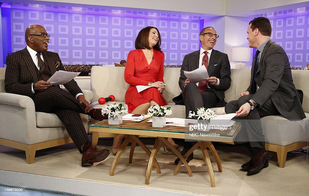 Al Roker, Erica Hill, Matt Lauer and Willie Geist appear on NBC News' 'Today' show --