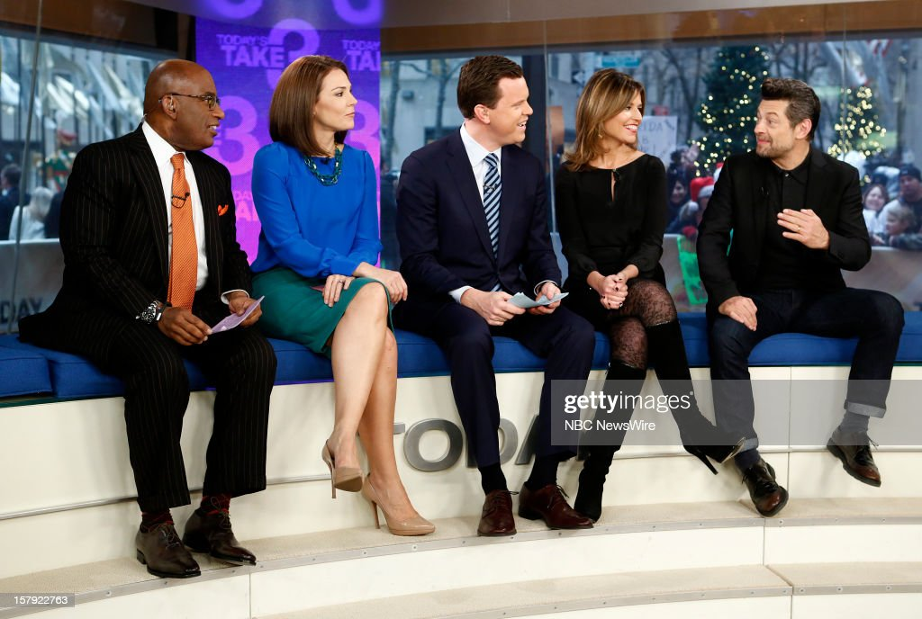 Al Roker, Erica Hill, Willie Geist, Savannah Guthrie and Andy Serkis appear on NBC News' 'Today' show --