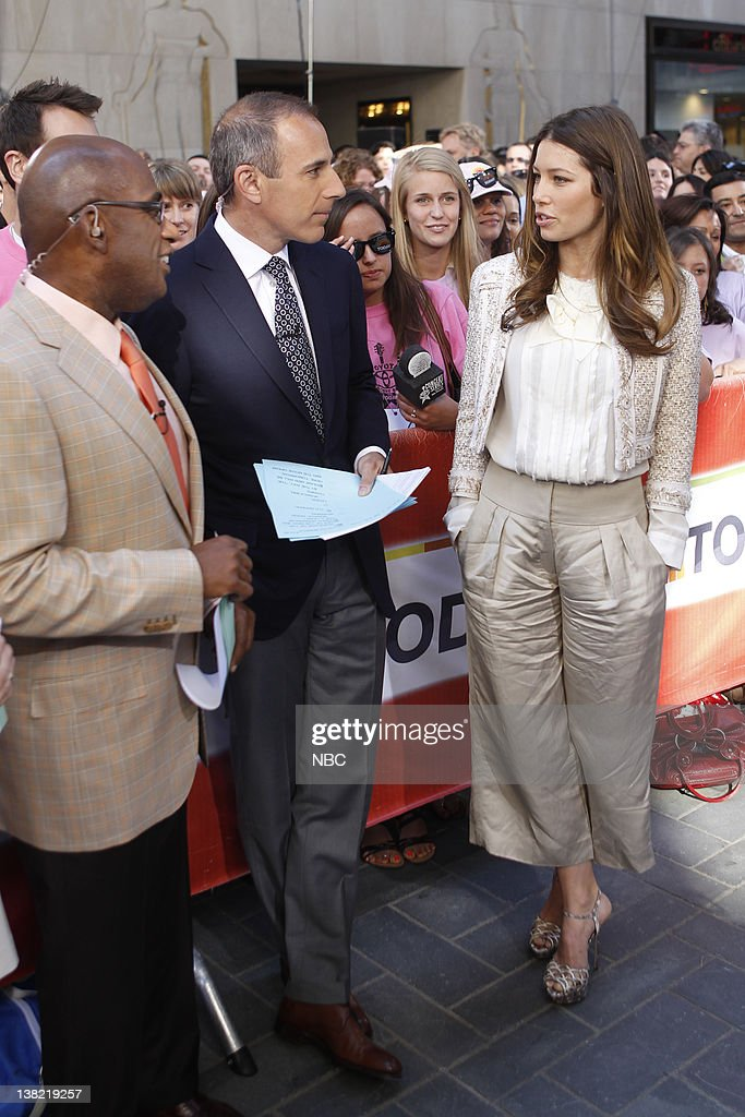 Al Roker Matt Lauer Jessica Biel 'Today' cohosts talk to Jessica Biel about 'The ATeam'