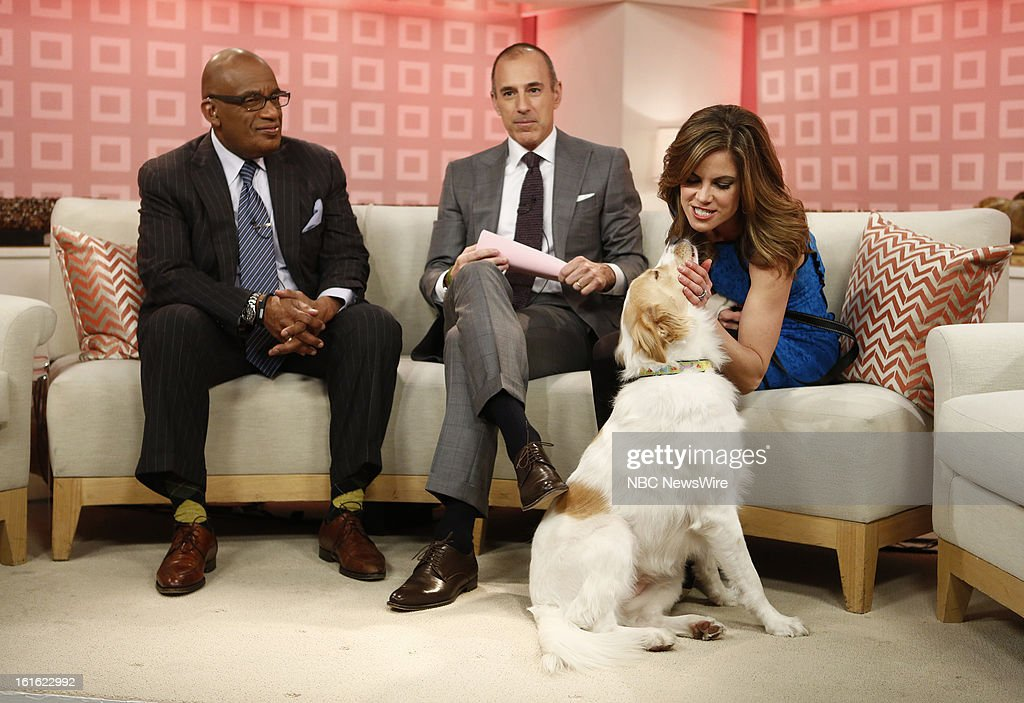 Al Roker, Matt Lauer, Natalie Morales and Zara appear on NBC News' 'Today' show --