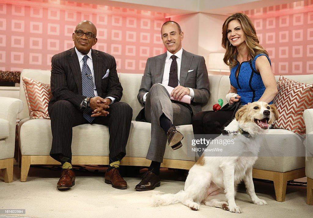 Al Roker, Matt Lauer, Natalie Morales and Zara appear on NBC News' 'Today' show --