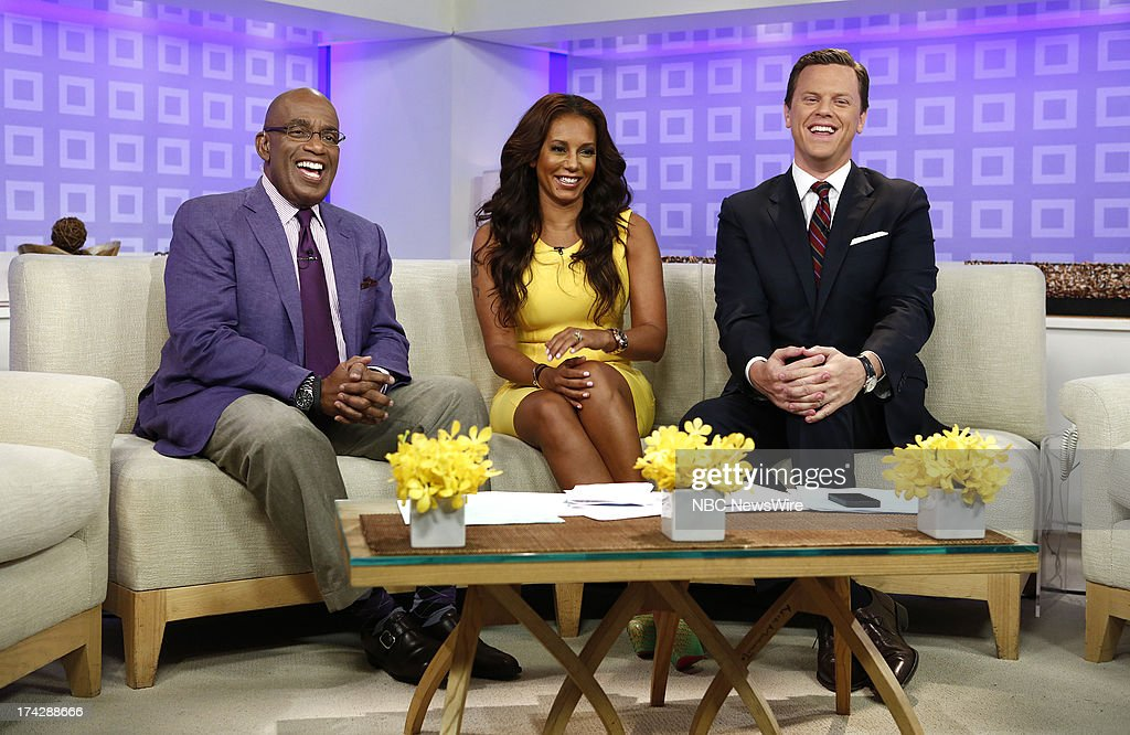 Al Roker, Melanie Brown (Mel B) and Willie Geist appear on NBC News' 'Today' show --