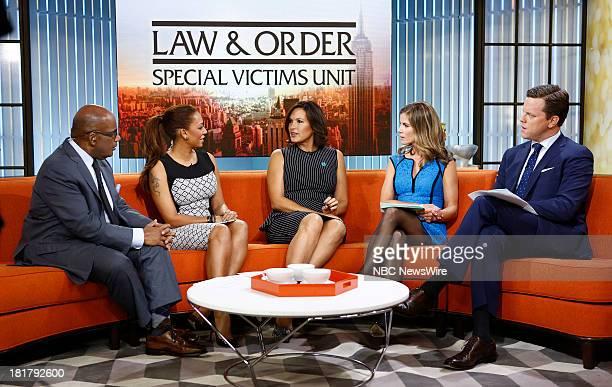 Al Roker Melanie Brown Mariska Hargitay Natalie Morales and Willie Geist appear on NBC News' 'Today' show