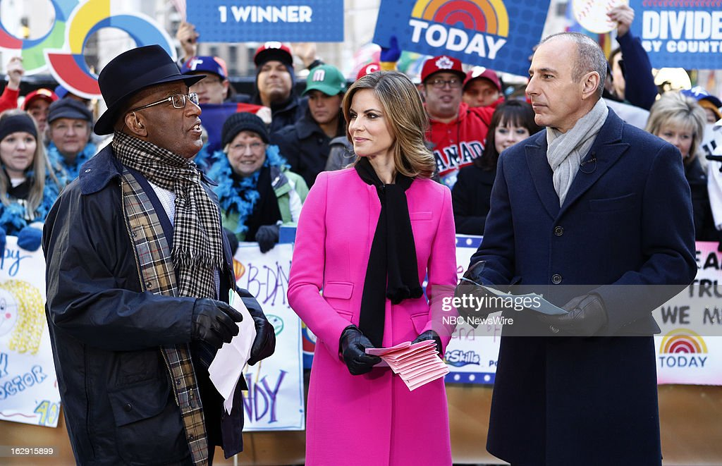 Al Roker, Natalie Morales and Matt Lauer appear on NBC News' 'Today' show --
