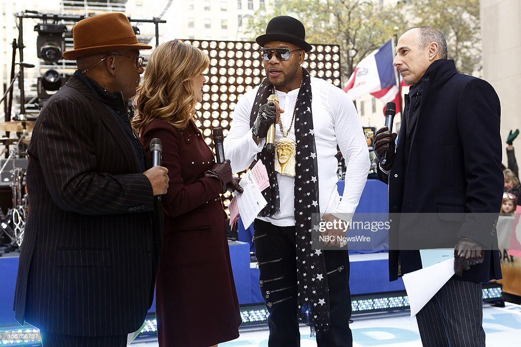 Al Roker, Natalie Morales, Flo Rida and Matt Lauer appear on NBC News' 'Today' show --