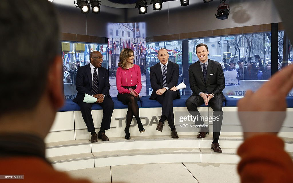 Al Roker, Natalie Morales, Matt Lauer and Willie Geist appear on NBC News' 'Today' show --