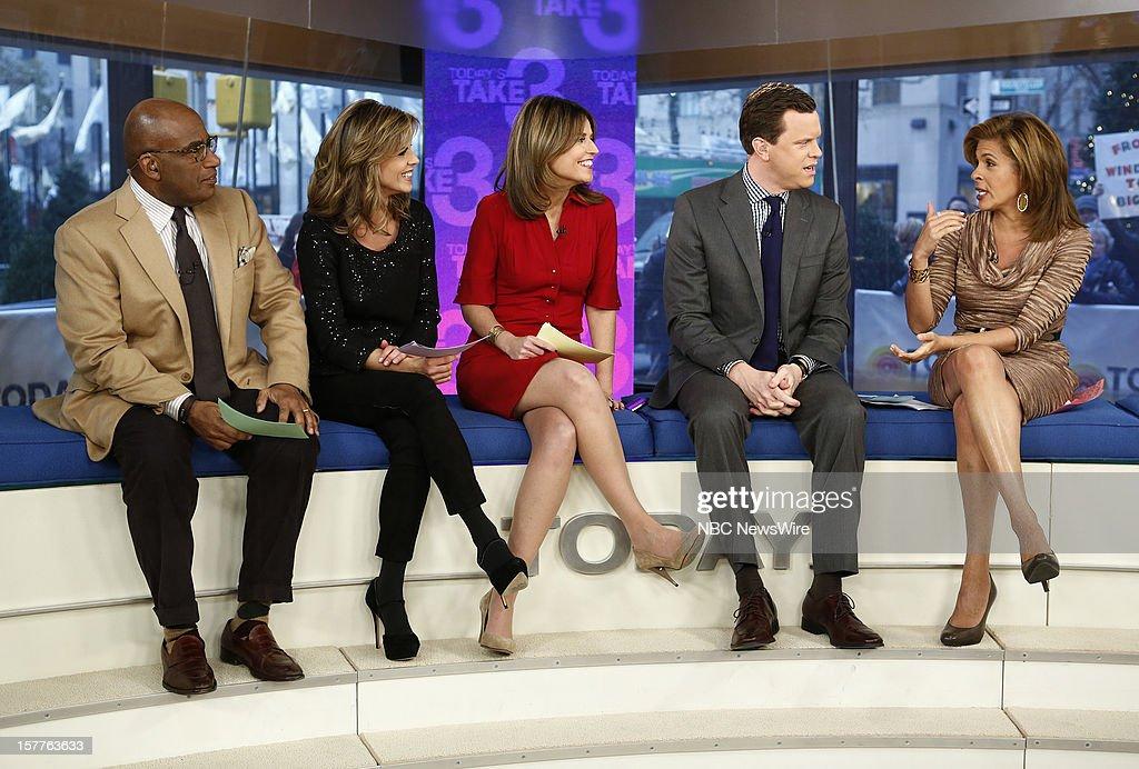 Al Roker, Natalie Morales, Savannah Guthrie, Willie Geist and Hoda Kotb appear on NBC News' 'Today' show --