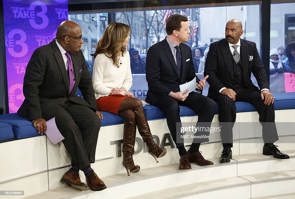 Al Roker, Natalie Morales, Willie Geist and Steve Harvey appear on NBC News' 'Today' show --