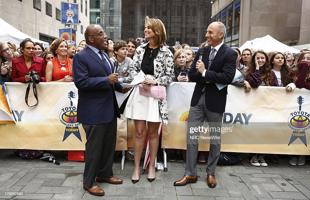 Al Roker, Savannah Guthrie and Matt Lauer appear on NBC News' 'Today' show --