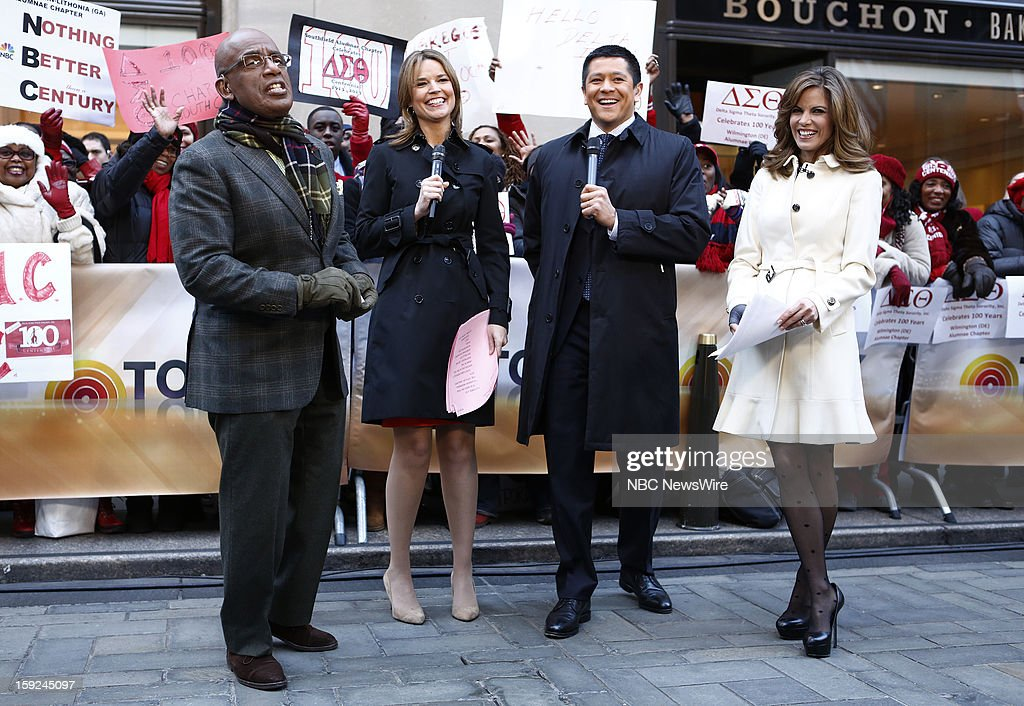Al Roker, Savannah Guthrie, Carl Quintanilla, and Natalie Morales appear on NBC News' 'Today' show --