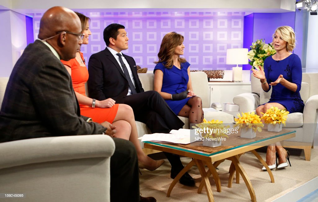 Al Roker, Savannah Guthrie, Carl Quintanilla, Natalie Morales and Jenna Elfman appear on NBC News' 'Today' show --