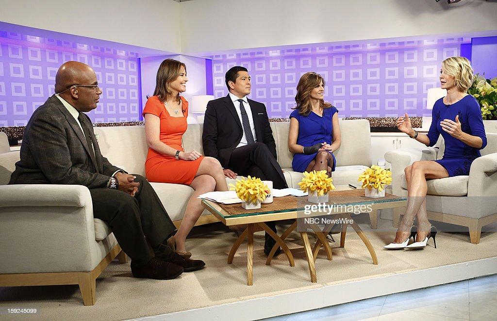Al Roker, Savannah Guthrie, Carl Quintanilla, Natalie Morales and Jenna Elfman appear on NBC News' 'Today' show --