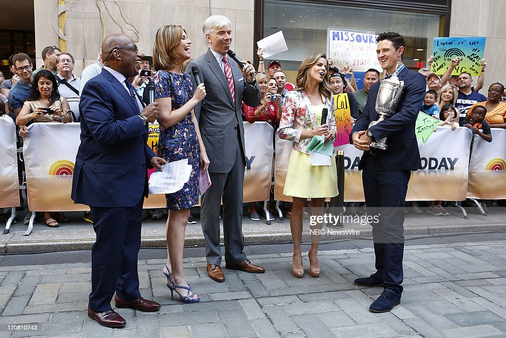 Al Roker, Savannah Guthrie, David Gregory, Natalie Morales and Justin Rose appear on NBC News' 'Today' show --