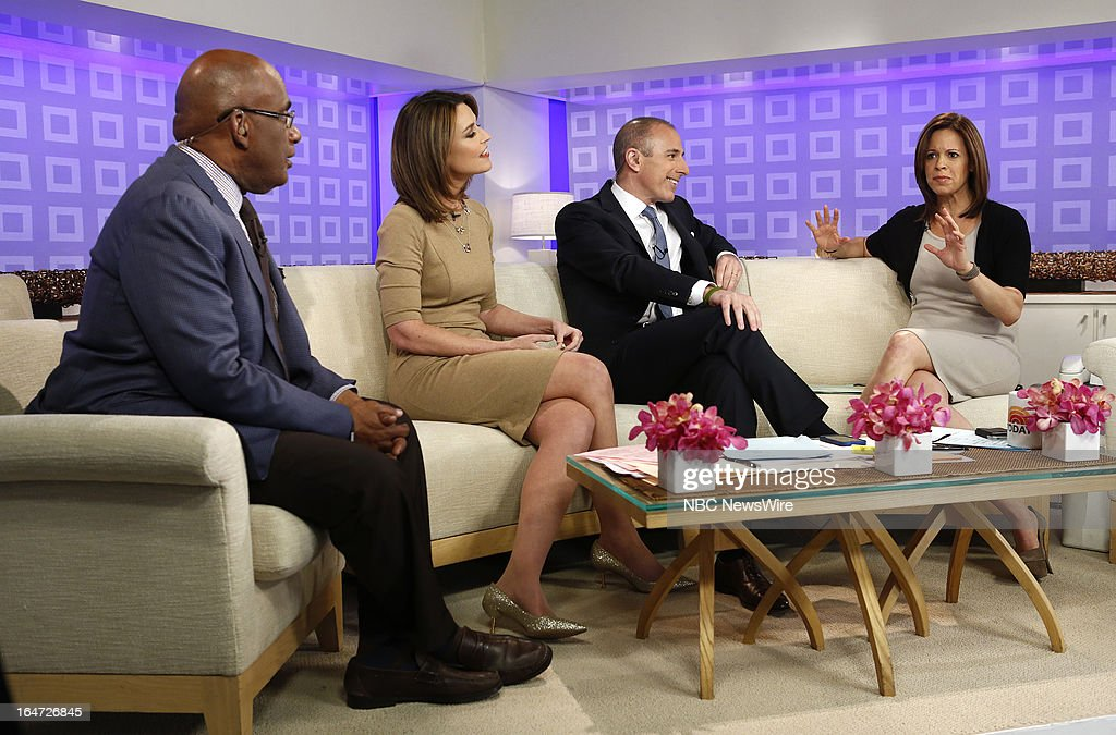 Al Roker, Savannah Guthrie, Matt Lauer and Jenna Wolfe appear on NBC News' 'Today' show on March 27, 2013 --