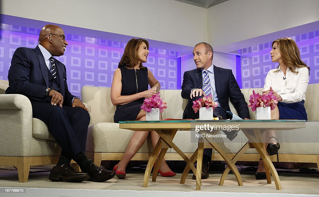 Al Roker, Savannah Guthrie, Matt Lauer and Natalie Morales appear on NBC News' 'Today' show --