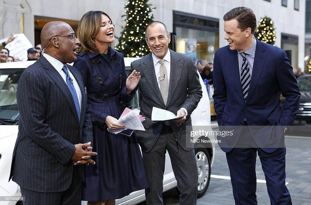 Al Roker, Savannah Guthrie, Matt Lauer and Willie Geist appear on NBC News' 'Today' show --