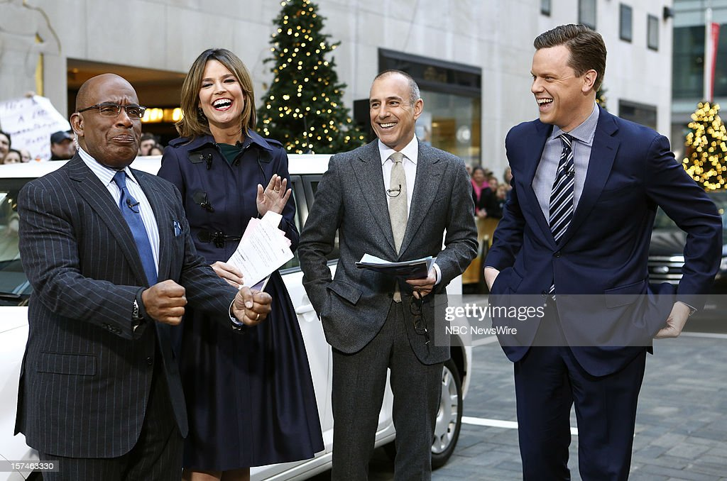 Al Roker, Savannah Guthrie, Matt Lauer and Willie Geist appear on NBC News' 'Today' show --