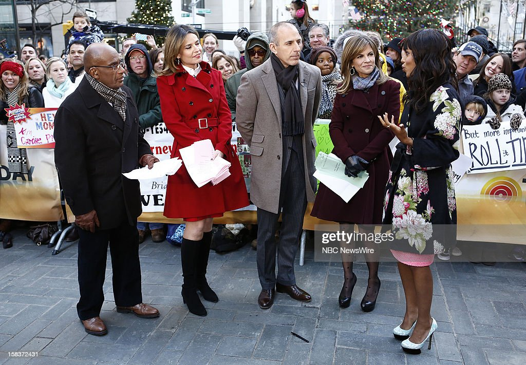 Al Roker, Savannah Guthrie, Matt Lauer, Natalie Morales and Kerry Washington appear on NBC News' 'Today' show --