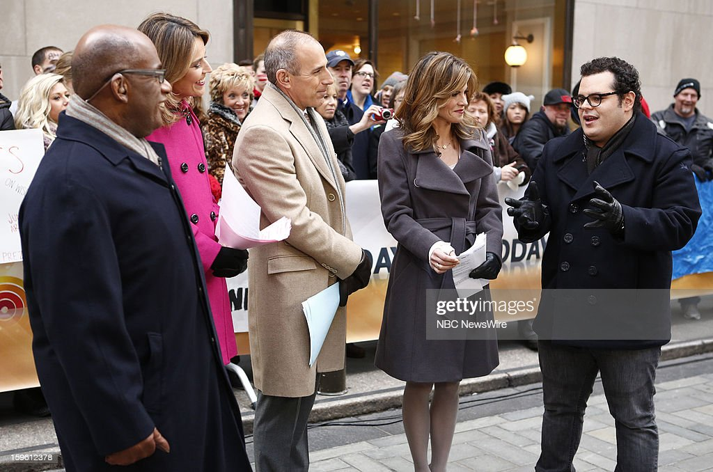 Al Roker, Savannah Guthrie, Matt Lauer, Natalie Morales and Josh Gad appear on NBC News' 'Today' show --