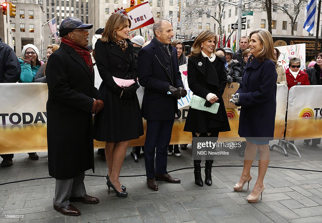 Al Roker, Savannah Guthrie, Matt Lauer, Natalie Morales and Meredith Vieira appear on NBC News' 'Today' show --
