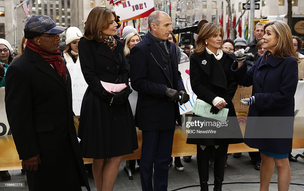 Al Roker, Savannah Guthrie, Matt Lauer, Natalie Morales and Meredith Vieira appear on NBC News' 'Today' show --