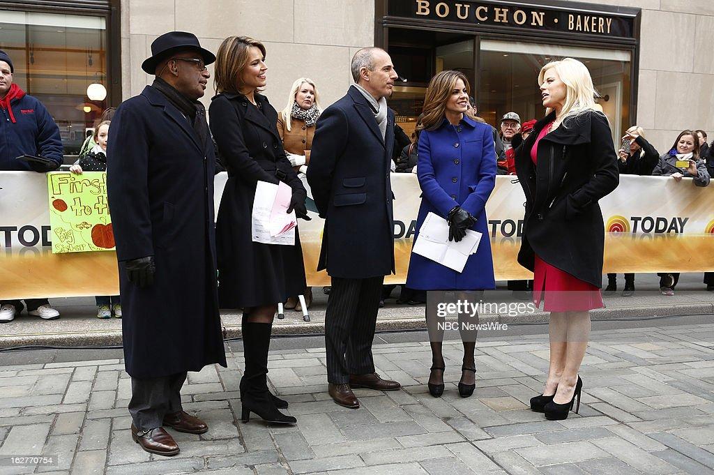 Al Roker, Savannah Guthrie, Matt Lauer, Natalie Morales and Megan Hilty appear on NBC News' 'Today' show --