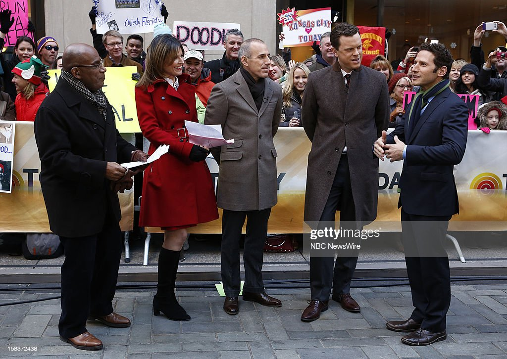 Al Roker, Savannah Guthrie, Matt Lauer, Willie Geist and Mark Feuerstein appear on NBC News' 'Today' show --