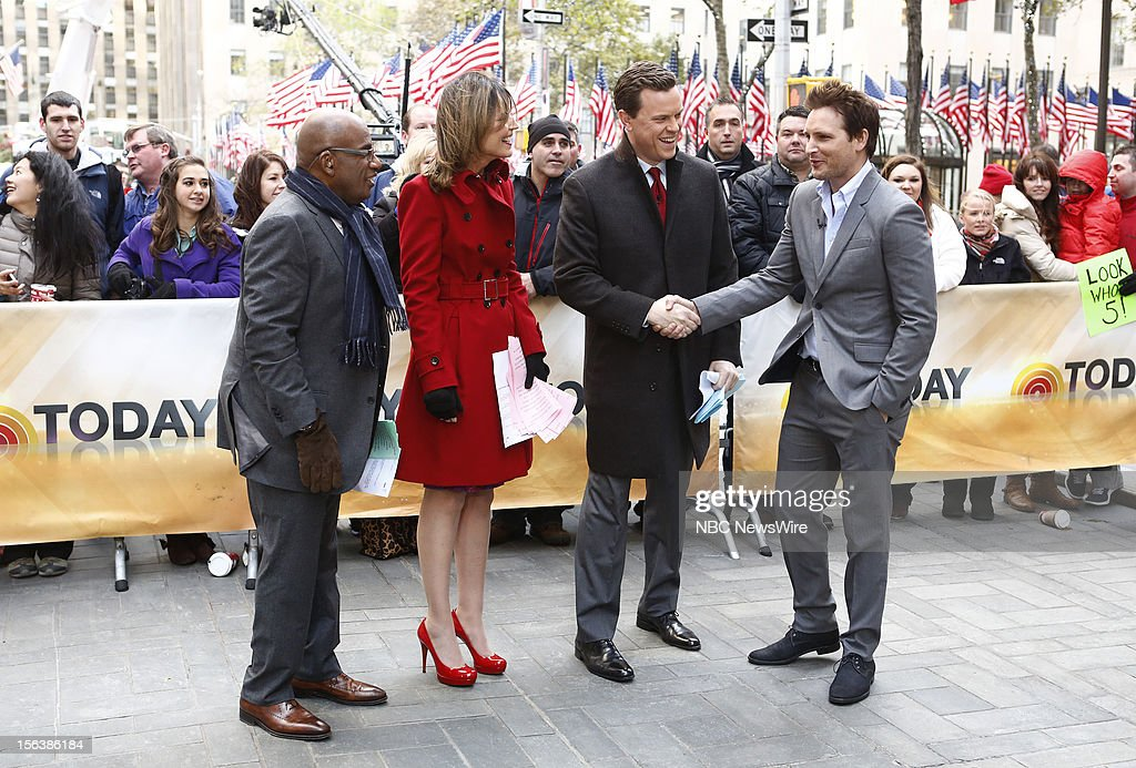 Al Roker, Savannah Guthrie, Willie Geist and Peter Facinelli appear on NBC News' 'Today' show --