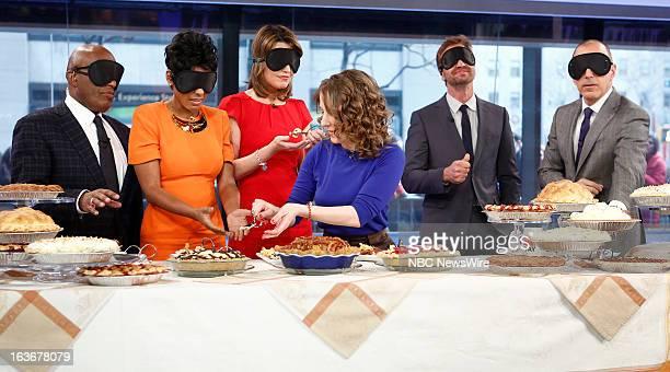 Al Roker Tamron Hall Savannah Guthrie Emily Fleischaker Gerard Butler and Matt Lauer appear on NBC News' 'Today' show