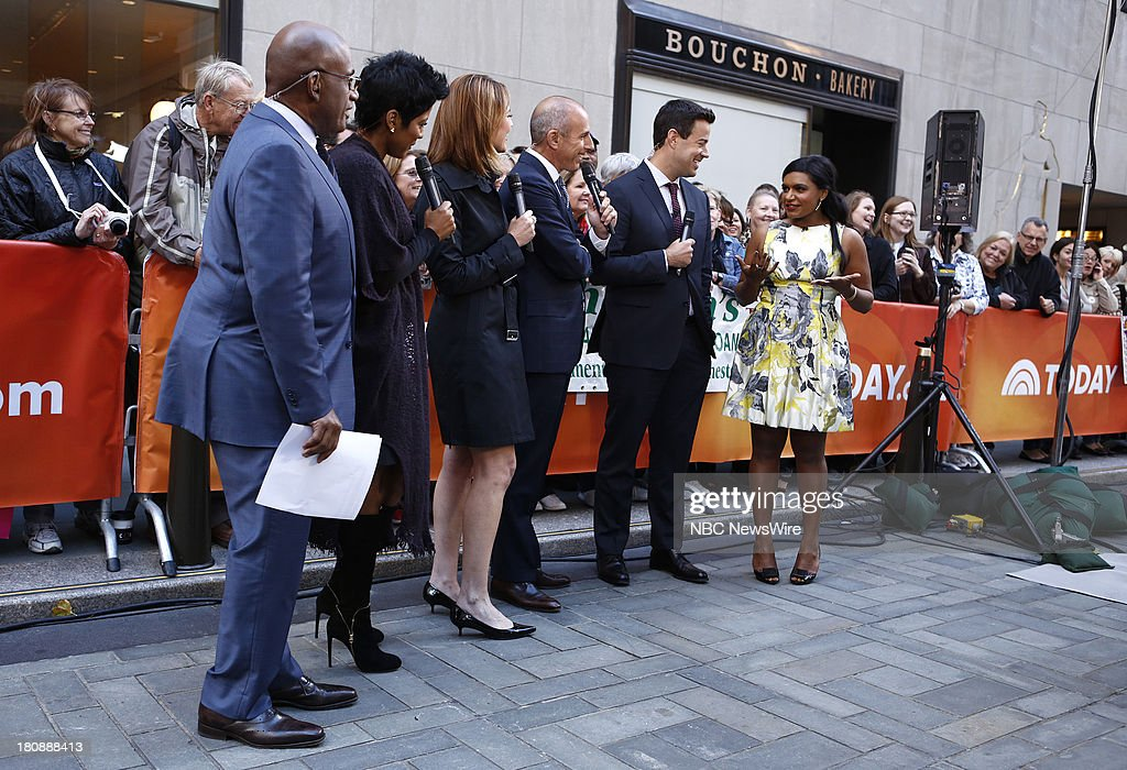 <a gi-track='captionPersonalityLinkClicked' href=/galleries/search?phrase=Al+Roker&family=editorial&specificpeople=206153 ng-click='$event.stopPropagation()'>Al Roker</a>, Tamron Hall, <a gi-track='captionPersonalityLinkClicked' href=/galleries/search?phrase=Savannah+Guthrie&family=editorial&specificpeople=653313 ng-click='$event.stopPropagation()'>Savannah Guthrie</a>, <a gi-track='captionPersonalityLinkClicked' href=/galleries/search?phrase=Matt+Lauer&family=editorial&specificpeople=206146 ng-click='$event.stopPropagation()'>Matt Lauer</a>, <a gi-track='captionPersonalityLinkClicked' href=/galleries/search?phrase=Carson+Daly&family=editorial&specificpeople=202941 ng-click='$event.stopPropagation()'>Carson Daly</a> and <a gi-track='captionPersonalityLinkClicked' href=/galleries/search?phrase=Mindy+Kaling&family=editorial&specificpeople=743884 ng-click='$event.stopPropagation()'>Mindy Kaling</a> appear on NBC News' 'Today' show --