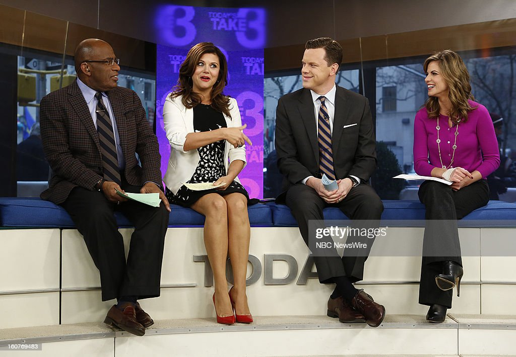 Al Roker, Tiffani Thiessen, Willie Geist and Natalie Morales appear on NBC News' 'Today' show --