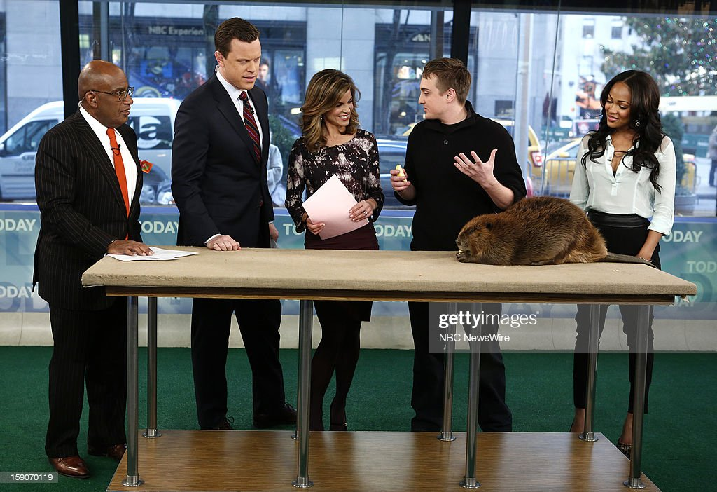 Al Roker, Willie Geist, Natalie Morales, Corbin Maxey and Meagan Good appear on NBC News' 'Today' show --