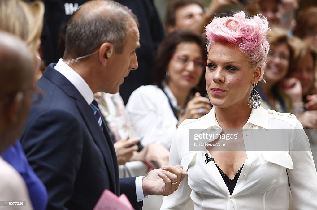 Alecia Beth Moore (<a gi-track='captionPersonalityLinkClicked' href=/galleries/search?phrase=Pink+-+S%C3%A4ngerin&family=editorial&specificpeople=220194 ng-click='$event.stopPropagation()'>Pink</a>) appears on NBC News' 'Today' show --