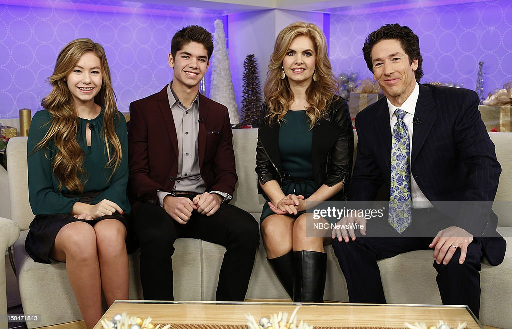Alexandra Osteen, Jonathan Osteen, Victoria Osteen and Joel Osteen appear on NBC News' 'Today' show --