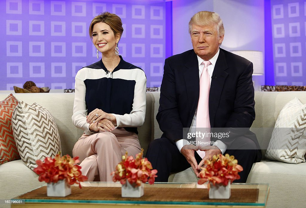 'All-Star Celebrity Apprentice's' Ivanka Trump and Donald Trump appear on NBC News' 'Today' show on February 27, 2013 --