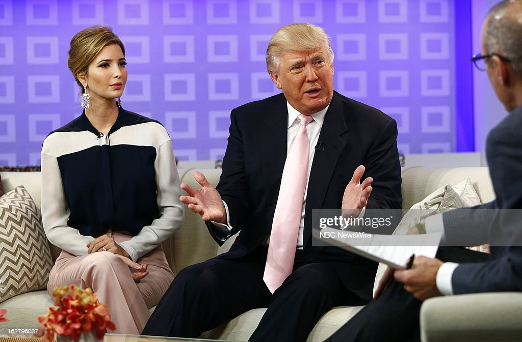 'All-Star Celebrity Apprentice's' Ivanka Trump, Donald Trump and NBC News' Matt Lauer appear on NBC News' 'Today' show on February 27, 2013 --