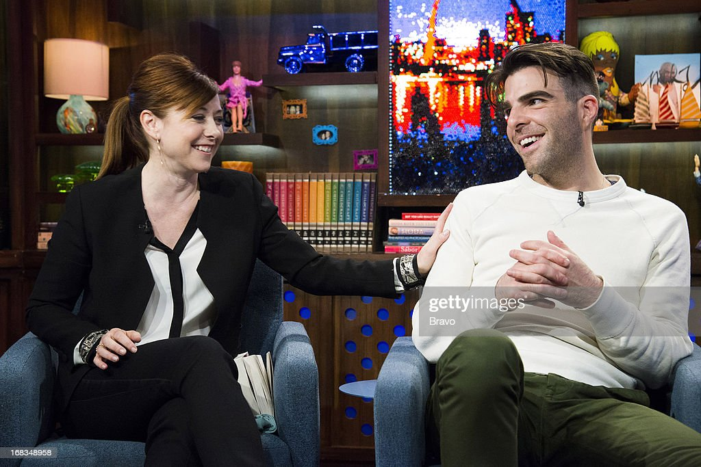 Alyson Hannigan and Zachary Quinto -- Photo by: Charles Sykes/Bravo/NBCU Photo Bank via Getty Images