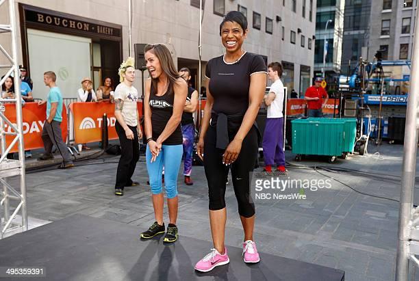 American Ninja Warrior contestant Kacy Catanzaro and Jacque Reid appear on NBC News' 'Today' show