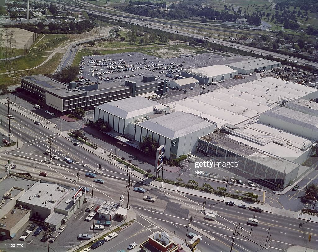 An aerial view of NBC Studios and west coast headquarters in Burbank Ca teken in 1971 Photo by NBCU Photo Bank